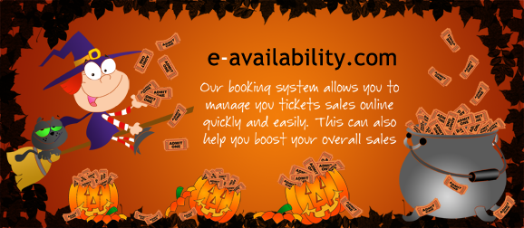 Online ticket booking system advert