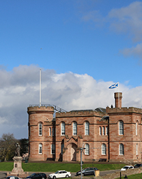 view of inverness castle from our office